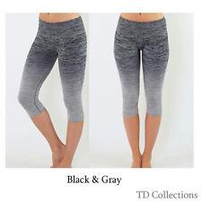 e1dc1dcefd item 2 New Women's Yoga Gym Workout Knee Length Capri Cropped Two-Tone  Leggings Pants -New Women's Yoga Gym Workout Knee Length Capri Cropped Two- Tone ...