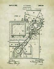 Doughnut Donut Patent Poster Art Print 11x14 Machine Maker Fryer Pan Shop PAT128