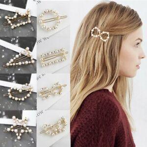 Geometric Hollow Metal Rabbit Ear Hairpins Barrettes Hair Clip For Women Girl