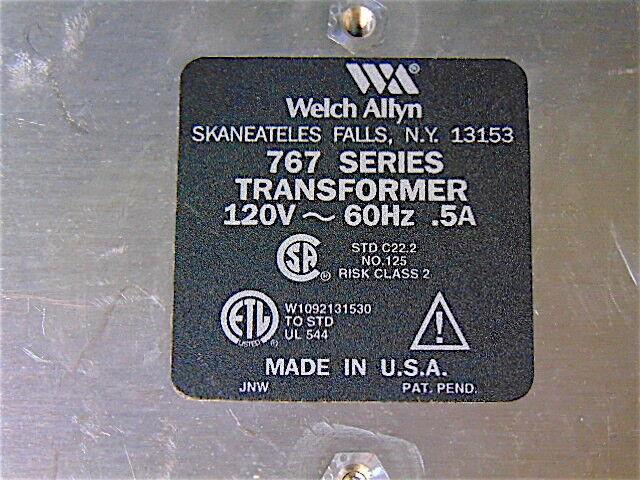 Welch Allyn Transformador serie Otoscopio 767 - 25020 A Oftalmoscopio Otoscopio serie - 11720-S3422 27d440
