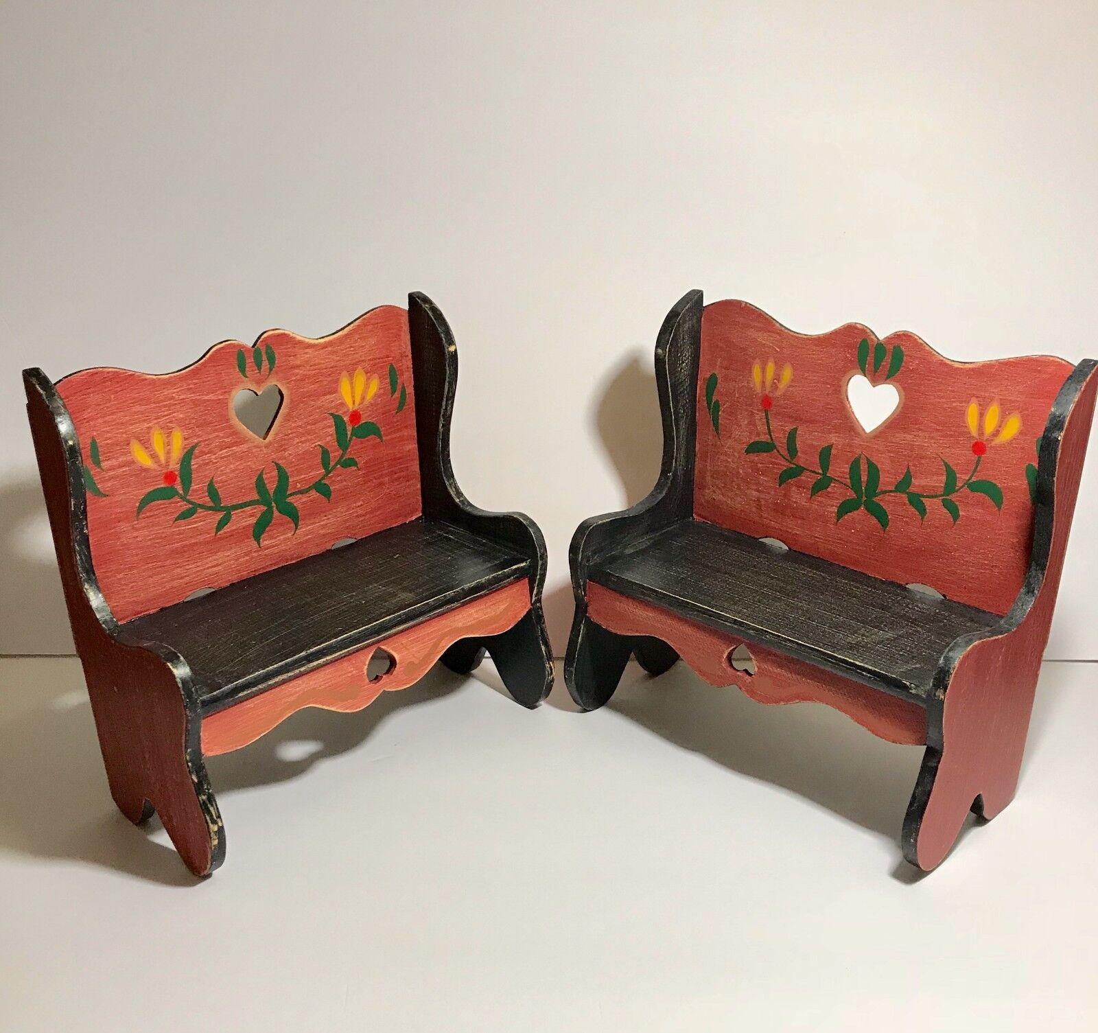 Primitive Antique Mini Wooden Bench
