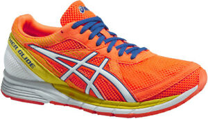 Details about Asics Gel Feather Glide 2 Mens Running Shoes Orange Lighweight Racing Trainers
