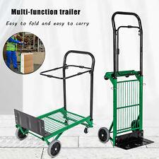 2 In 1 Folding Hand Truck Stair Climber Hand Truck Aluminum Cart Dolly 200lbs