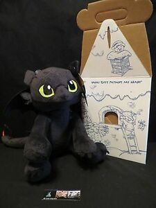 1ST EDITION HOW TO TRAIN YOUR DRAGON TOOTHLESS BUILD A BEAR W// BOX /& CERT NWT!