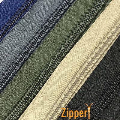Continuous Zip Chaîne Nº 5 poids-TISSUS D/'AMEUBLEMENT N5 ouverture 5 ou 10 m 2 1