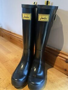 Joules-Black-Faded-Wellies-Size-5-2219