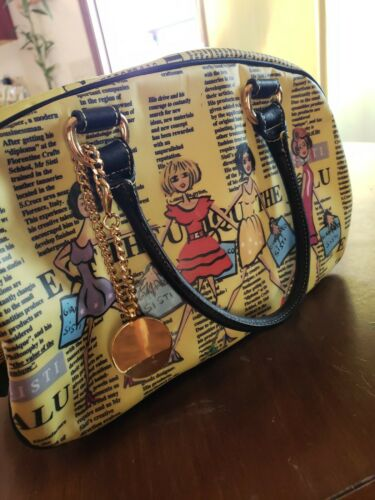 Gianfranco Yellow Newspaper Model Purse