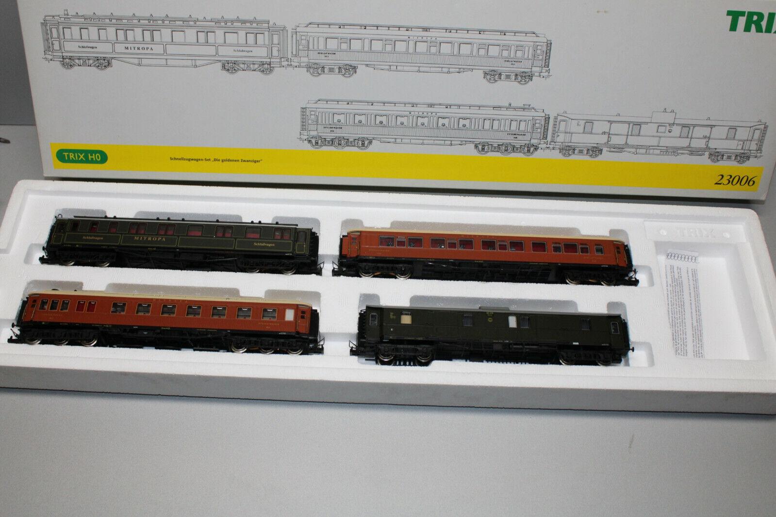 Trix 23006 Vagone Treno insieme la Dorati 20er 4teilig Scala H0 Conf. Orig.
