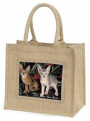 Abessinier Katzen 'Liebe, die Sie Mama' Große Natürliche Jute-einkaufstasche