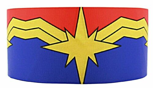 "Captain Marvel 1/"" Wide Repeat Ribbon Sold in Yard Lots"