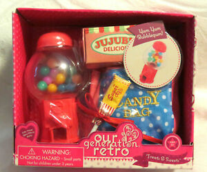 """New Our Generation Treats /& Sweets Set For 18"""" Dolls Bubblegum Machine /& Candy"""