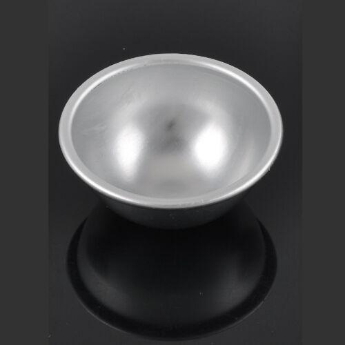 2PCS 3D Aluminum Alloy Ball Sphere Cake Pan Tin Baking Mold Pastry Mould Tools