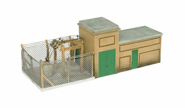 BACHMANN 35111 HO Scale ELECTRICAL SUBSTATION BUILT PAINTED BUILDING FREE SHIP