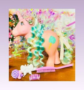 ❤️My Little Pony MLP G1 VTG SUGAR SWEET Candy Cane Ponies Cotton Candy Cutie❤️