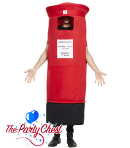 Adult Postbox Novelty Stag Night Funny England Fancy Dress Costume