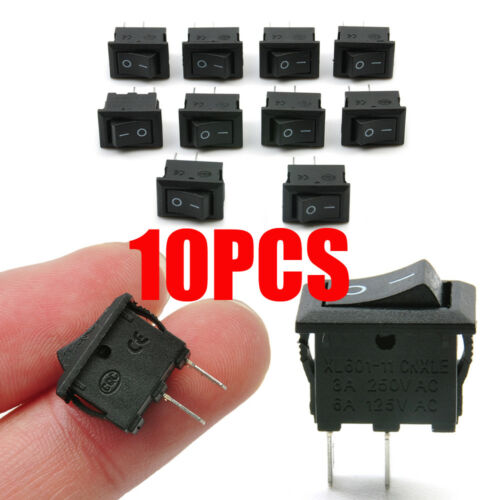 Mini 10pcs//lot 10*15mm 2Pin ON//OFF Boat Rocker Switch Car Truck Button Switch