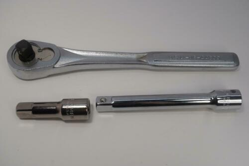 """New Craftsman USA Made 1//2/"""" Drive VS Socket Ratchet Wrench w// Extensions USA"""