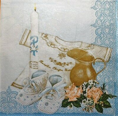 4 X Single Paper Napkins Party Christening, Shoes Decoupage Crafting 19 Una Gran Variedad De Productos