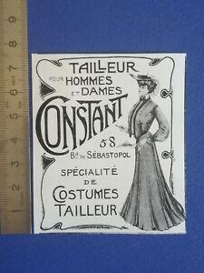 PUB-ANCIENNE-ADVERT-CLIPPING-1904-Tailleur-pour-homme-femme-Constant-costumes