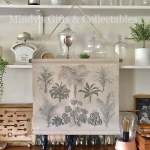 Details About 64cm Wide Printed Canvas On Wooden Hanger Vintage Palms Plants Trees Wall Art
