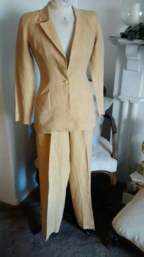 VINTAGE 90s BETSEY JOHNSON LINEN 2-PC AUTUMN SUN … - image 1