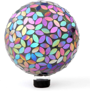 Designed with a Stunning Holograp Details about  /Lily/'s Home Colorful Mosaic Glass Gazing Ball