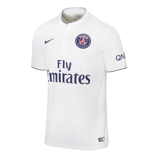 Nike PSG Paris Saint German Season 2014-2015 Away Soccer Jersey New White ab839c7a2
