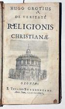 1675 - Grotius, Hugo:  De veritate religionis christianae