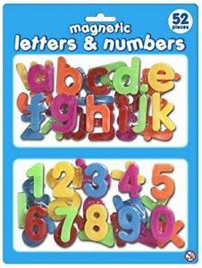 Magnetic 52 Piece Plastic Letters & Numbers Learning Kids Fridge Board Alphabet