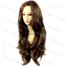 Wiwigs Fabulous Light Chestnut Brown Long Wavy Layered Skin Top Ladies Wig