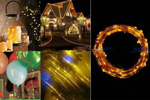 10//20//30//40 Micro LED À Pile Guirlande Lumineuse Argent Fil De Cuivre PartyDecor