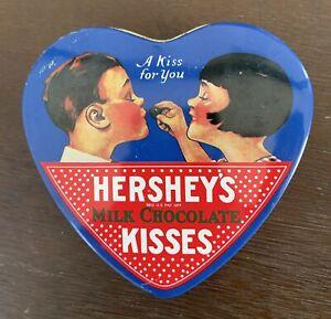 """1992 Vintage HERSHEY'S KISSES """"A Kiss for you"""" en forme de cœur Tin Valentine's Day"""