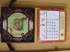 fernöstlicher Wandkalender Jahreskalender 2012 / 56,5cm x 30cm x 1cm