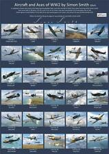 Bf 109E Aces luftwaffe postcard set Battle of Britain Galland,Wick Molders