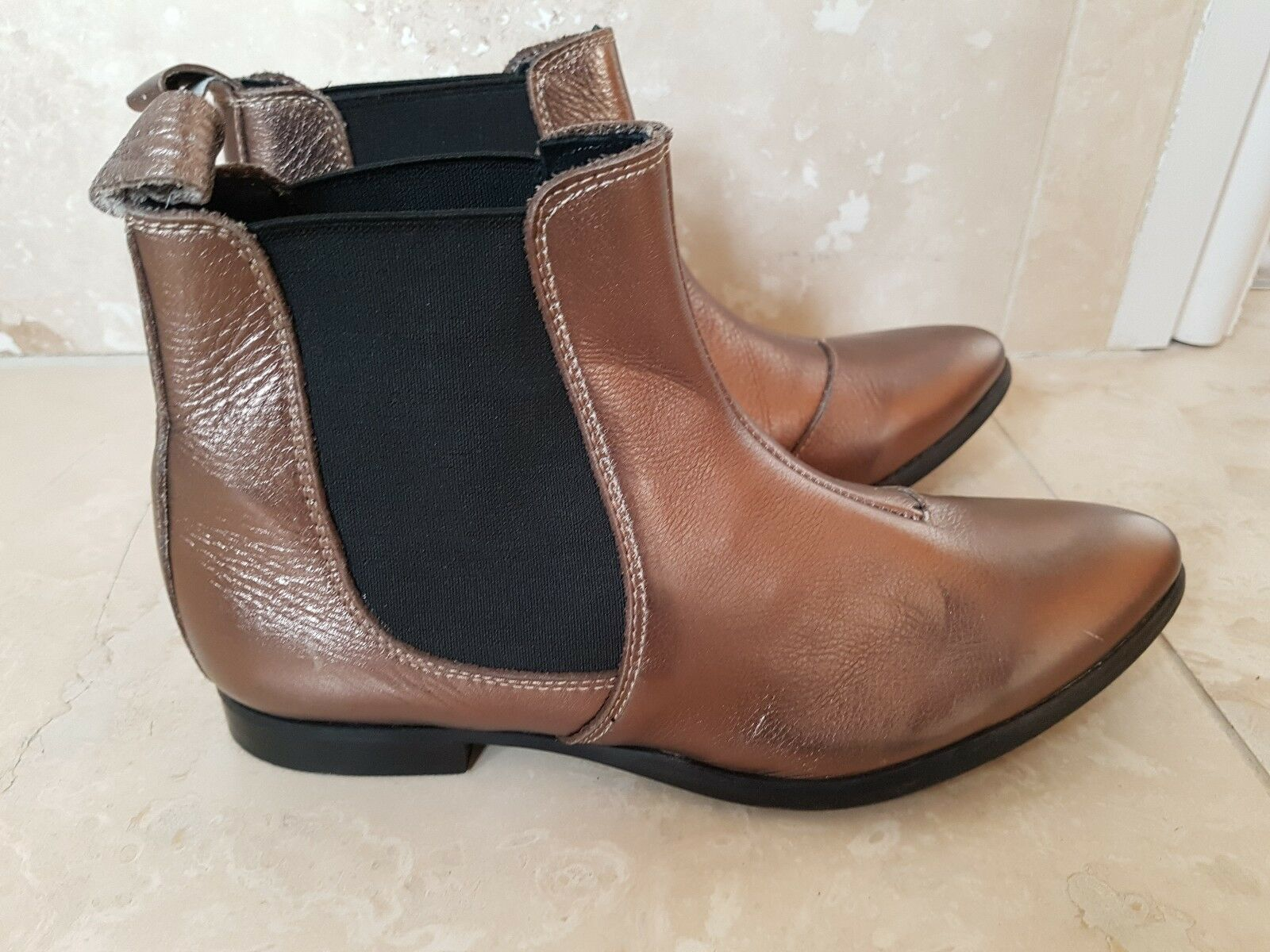 Label Leather Lab Leather Label Ankle Boots size 3 e5feaf