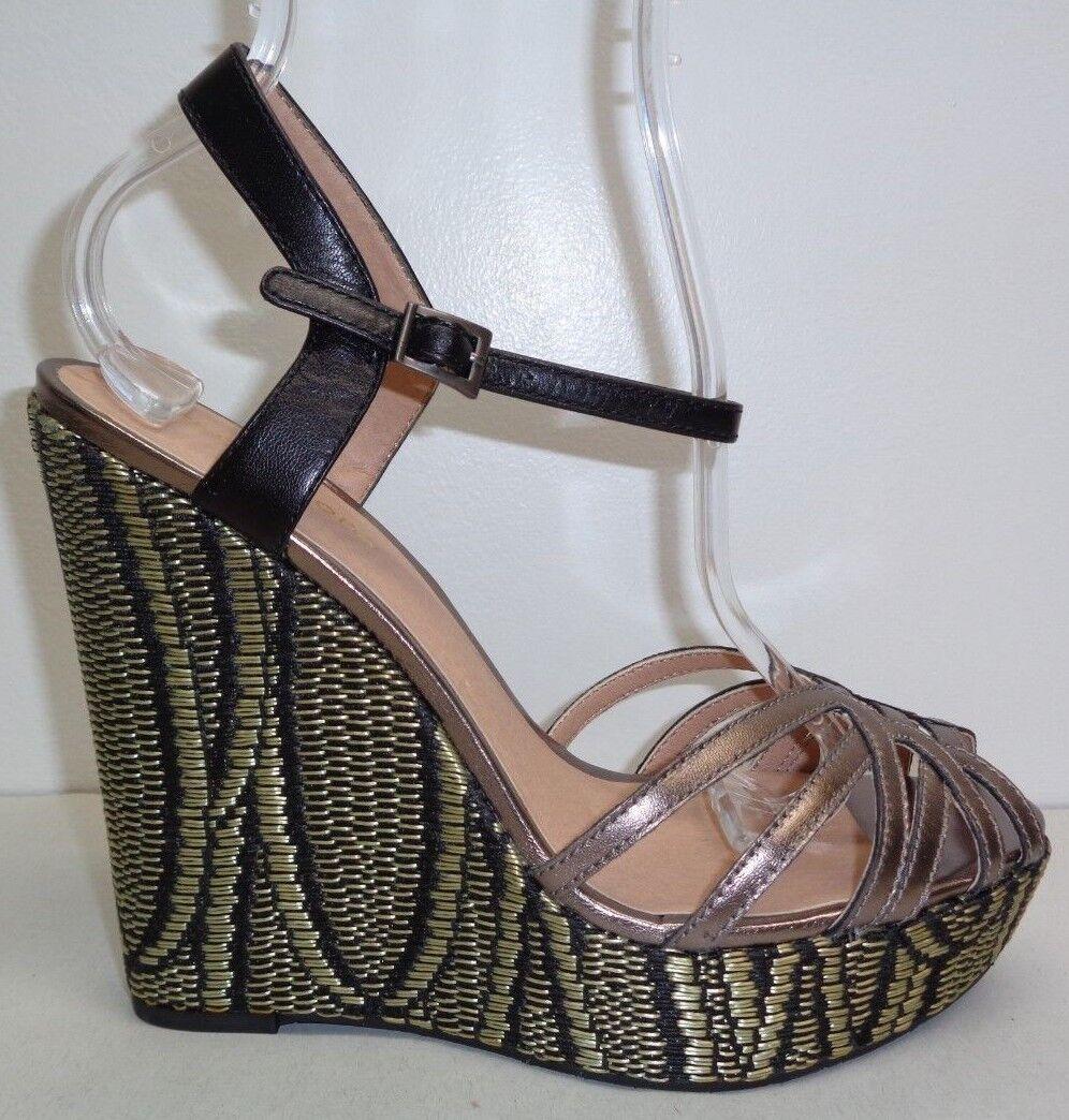 Pelle Moda Moda Moda Talla 9 M Odell Estaño Sandalias De Plataforma De Cuero Negro Nuevos Zapatos para mujer  oferta de tienda