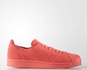 Rubí alegría traductor  Men's adidas Originals Superstar Boost Primeknit Shoes Easy Coral 13 BZ0128  | eBay