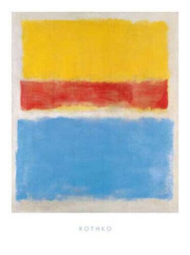 Rothko Mark Untitled Yellow-Red and Blue abstrakt Druck Grösse 60x80 Kunstdruck