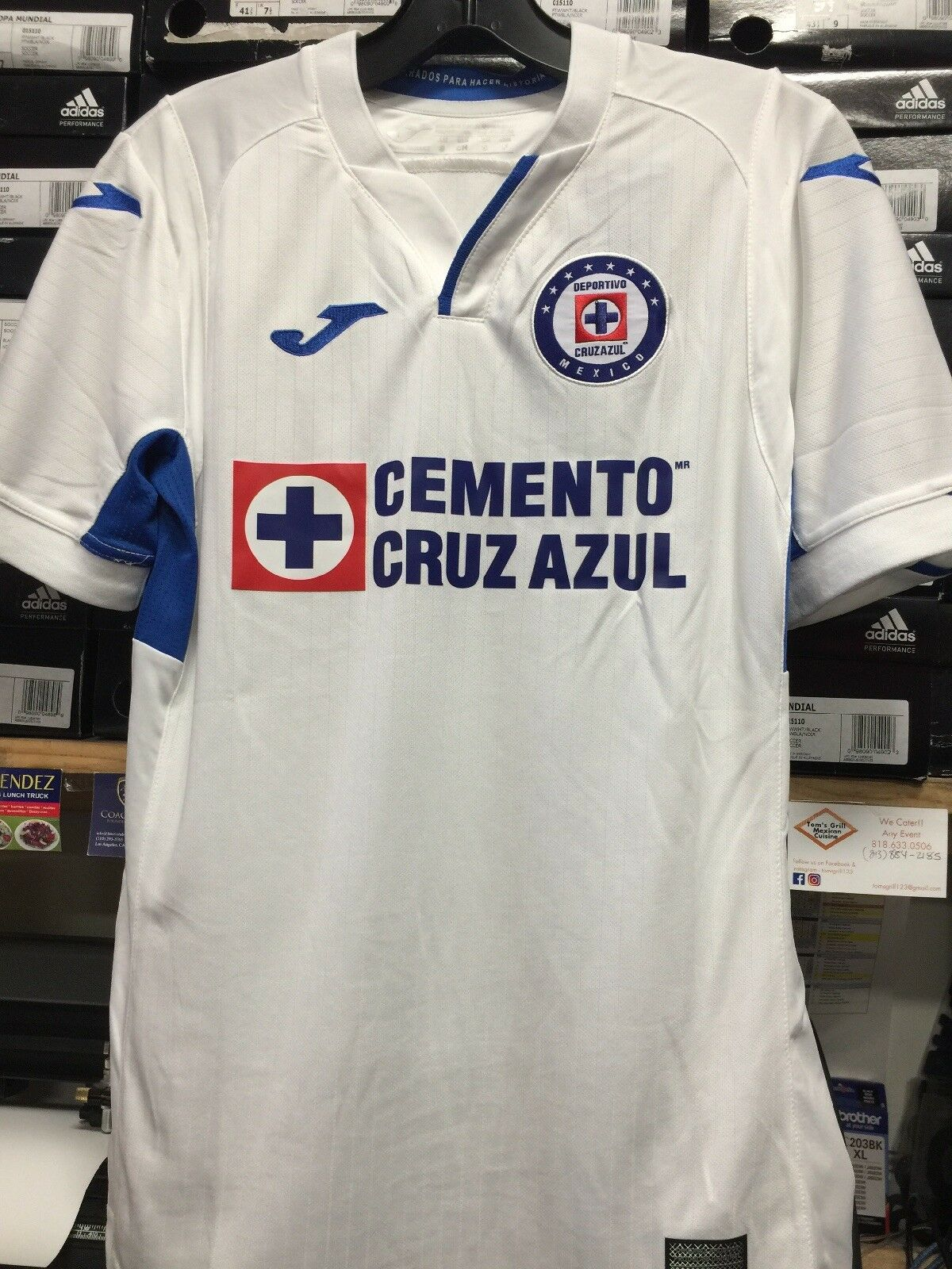 Joma Cruz Azul Lejos Jersey 2019 blancoo Azul Real, Talla S, sólo