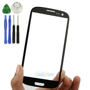 1d586ff3347d64 Black Replacement Front Screen Glass Lens Kit For Samsung Galaxy S3 ...