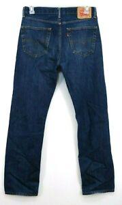 Levis Mens 505 Regular Fit Straight Leg Dark Blue ...