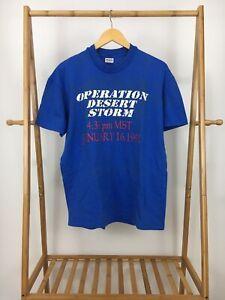 VTG-1991-Stedman-Men-039-s-Operation-Desert-Storm-Short-Sleeve-T-Shirt-Size-XL-USA