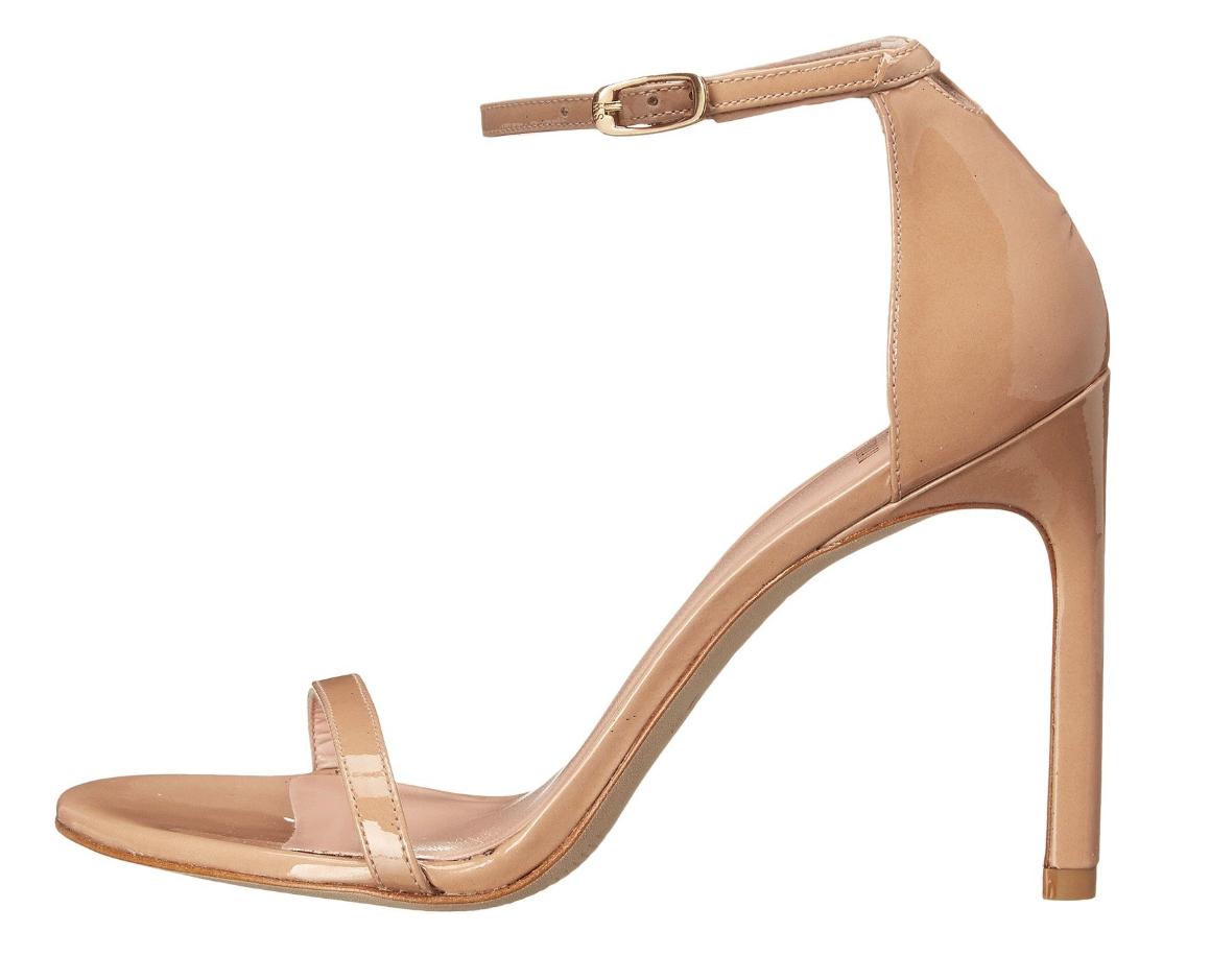 divertiti con uno sconto del 30-50% Stuart Weitzman Nudistsong Adobe Aniline Patent Leather High High High Heel Sz 11 7943  moda classica