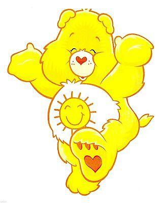 "6/""-10/"" Care bears tender heart bear wall safe sticker border cut out character"