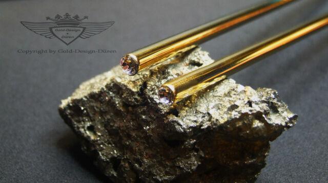 24 KARAT VERGOLDET, chopsticks, Essstäbchen, Gold, Swarovski-Elements, Klar