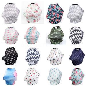 5 IN 1 Milk Silk Nursing Scarf Breastfeeding Breathable Soft Cover Baby Infant