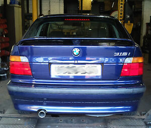 BMW 316i Compact E36 Custom cat back stainless steel exhaust  single tail  eBay