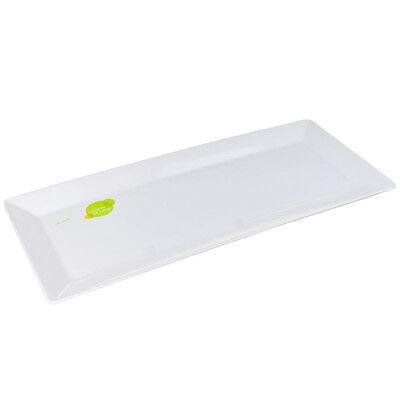 12 PK WHITE MELAMINE SERVING TRAY MELAMINE PLATTER  48.5cm x 20cm
