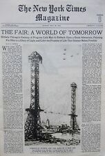 CHICAGO FAIR - RHINE VOLGA DANUBE - HOOVER - TIBET KONKA 5-1933 May 28 NY Times