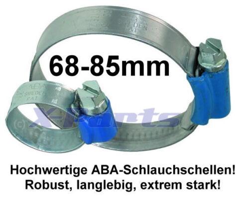ABA Schlauchschelle Rohrschelle 68-85 mm VR6 16V R32 Turbo 1.8T Clet Zlet G60